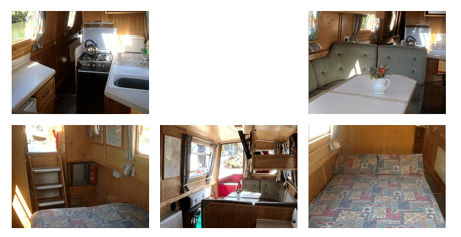 Views of Narrowboat Chestnut Internally