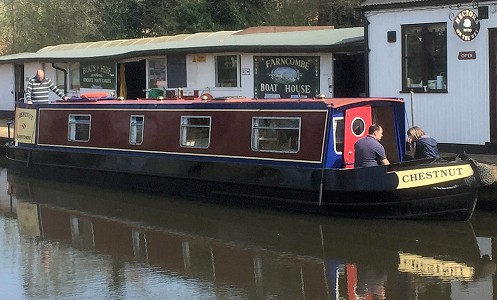 Narrowboat named Chestnut