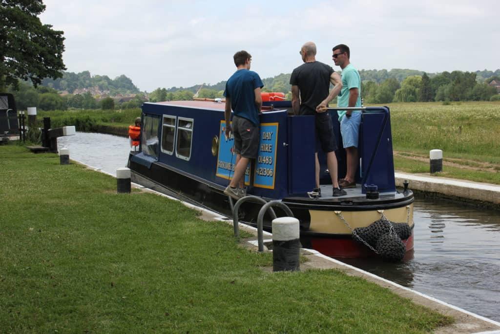 A day boat in Lock