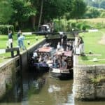Day Boat in Catteshall Lock