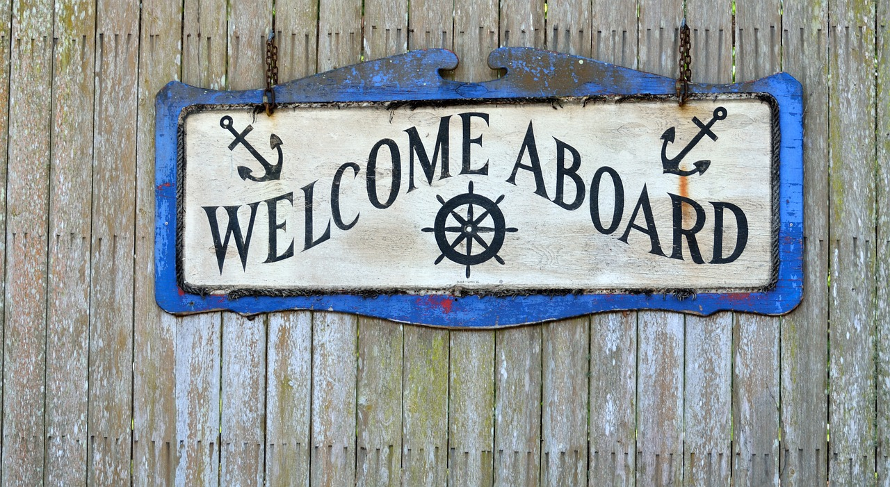 Welcome Aboard Nautical Sign