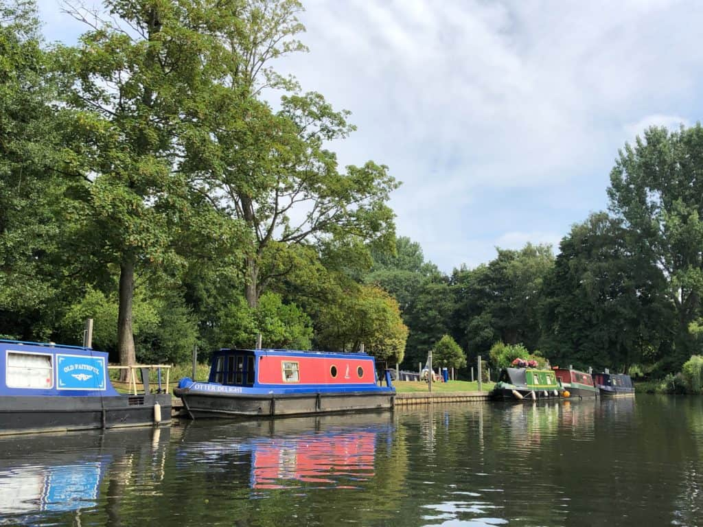 Narrowboat on the River Wey