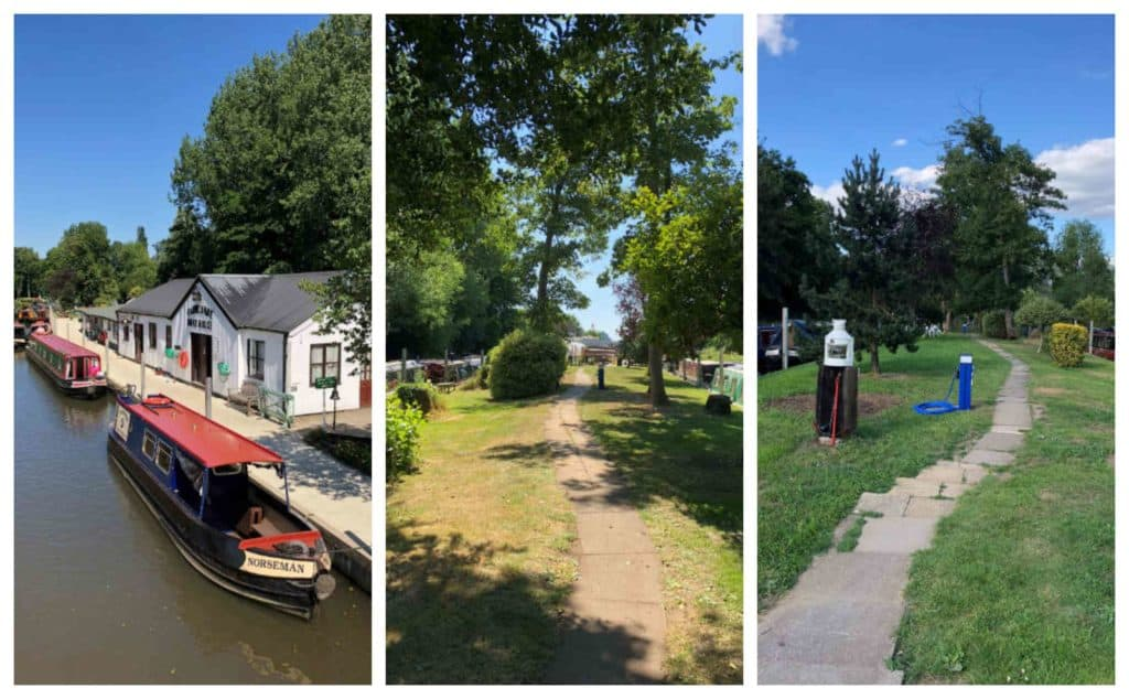 Moorings on the River Wey